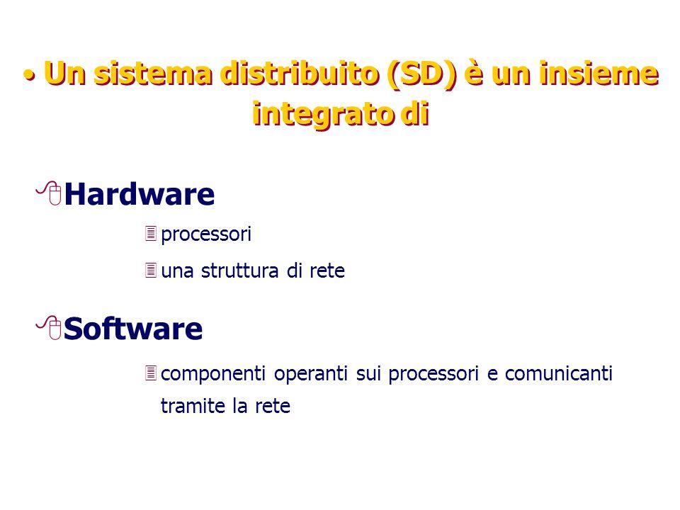 Un sistema distribuito (SD) è un insieme integrato di