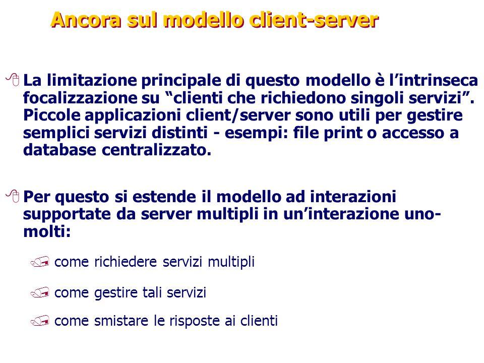 Ancora sul modello client-server