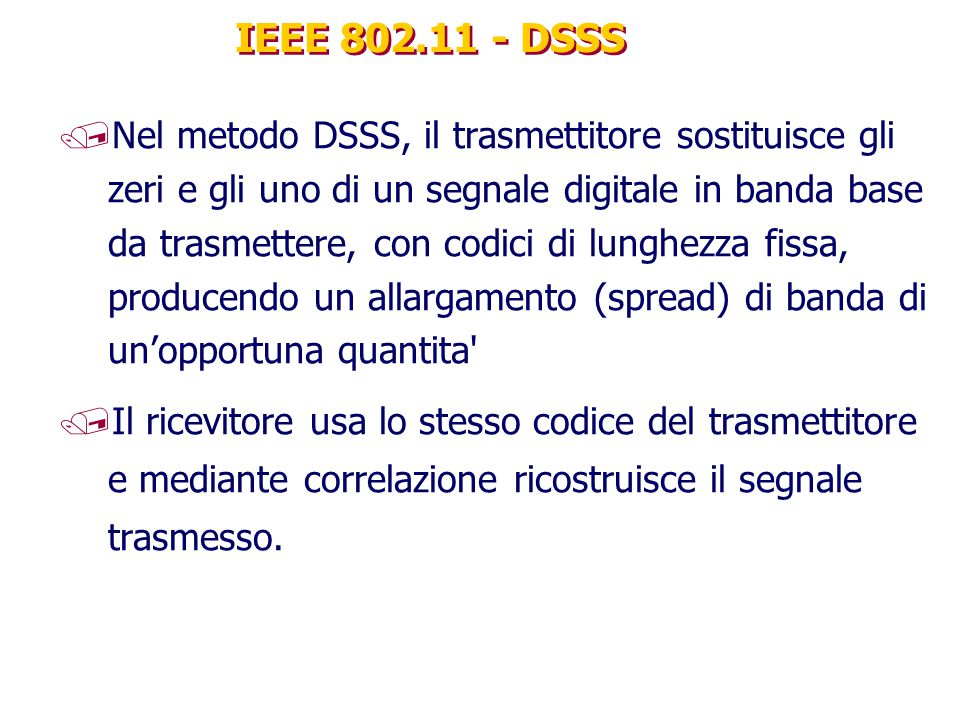 IEEE 802.11 - DSSS