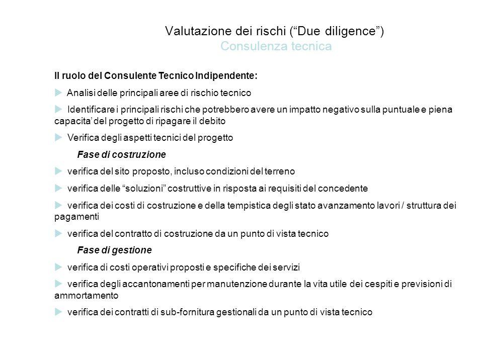 Valutazione dei rischi ( Due diligence ) Consulenza tecnica