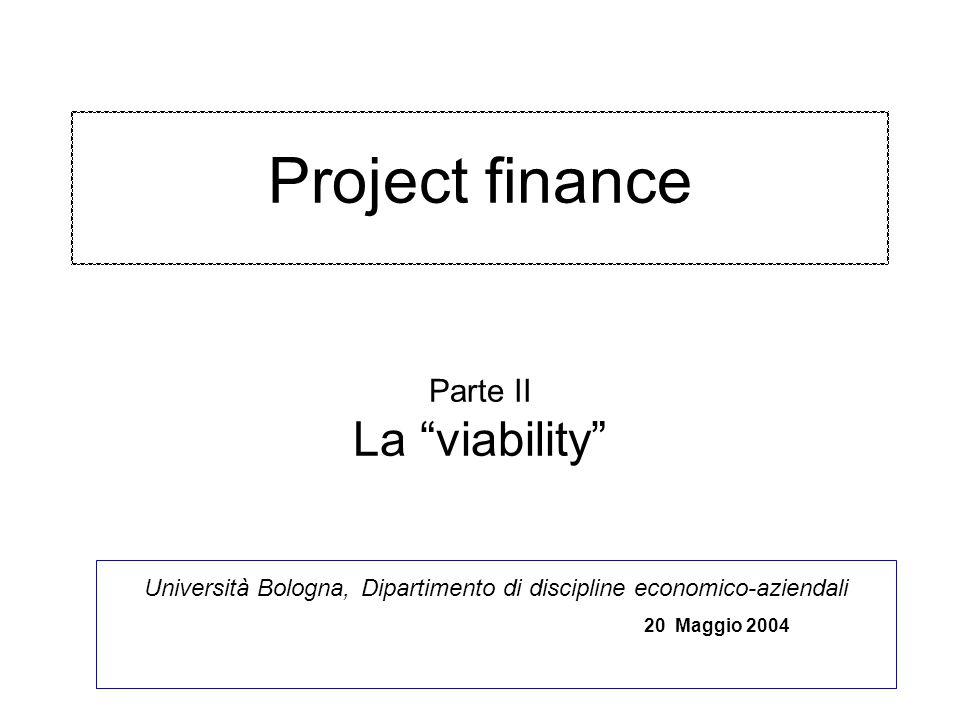 Project finance Parte II La viability