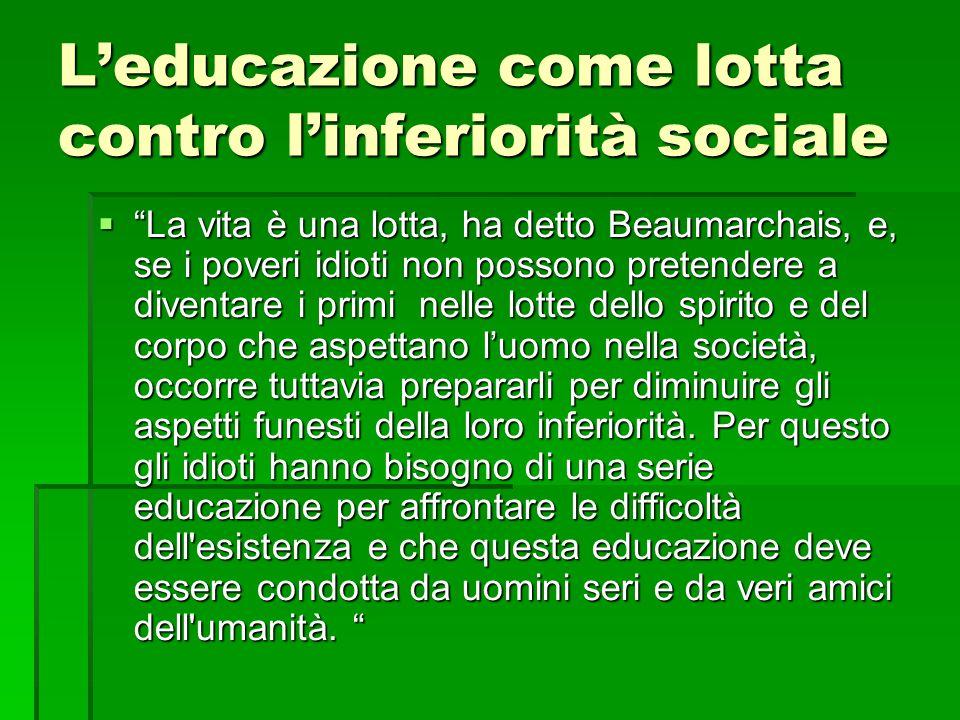 L'educazione come lotta contro l'inferiorità sociale