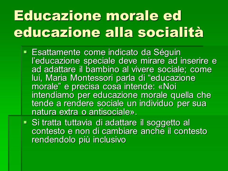 Educazione morale ed educazione alla socialità