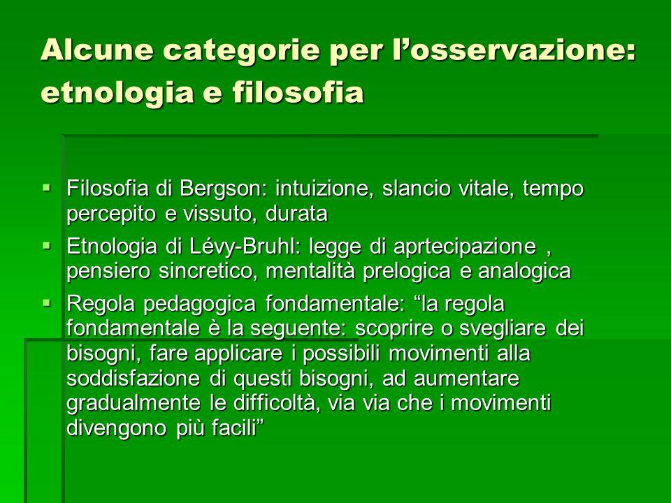 Alcune categorie per l'osservazione: etnologia e filosofia
