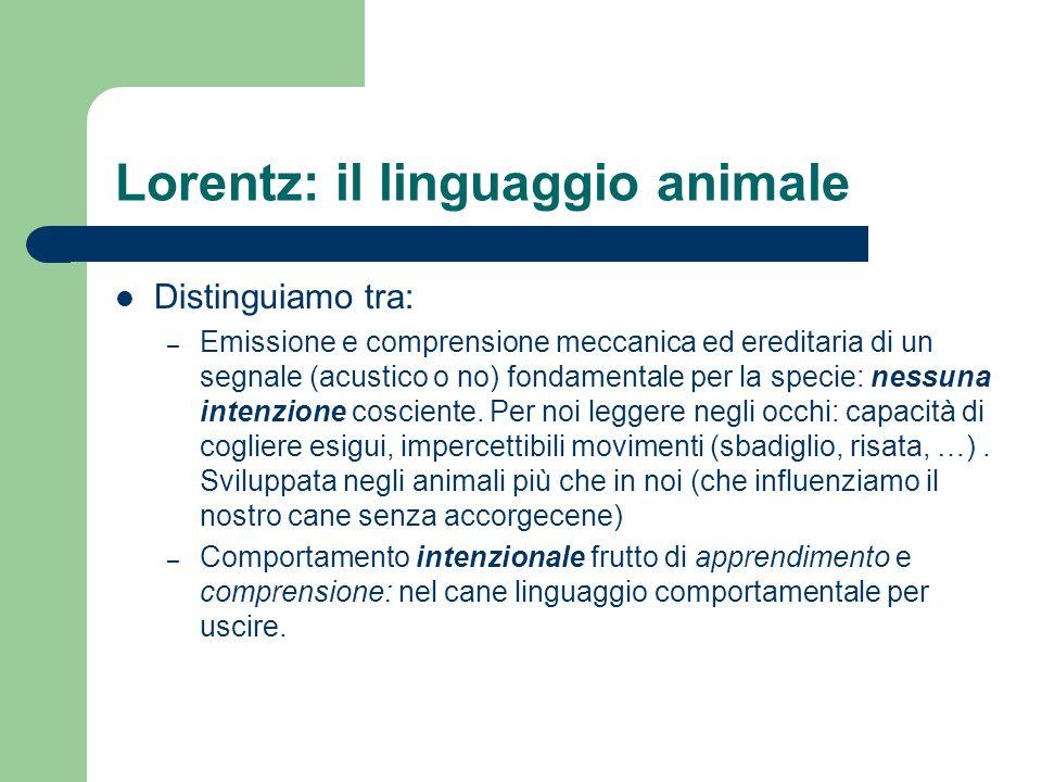 Lorentz: il linguaggio animale