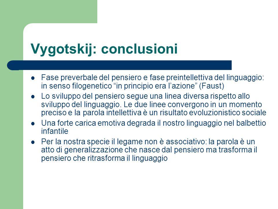 Vygotskij: conclusioni