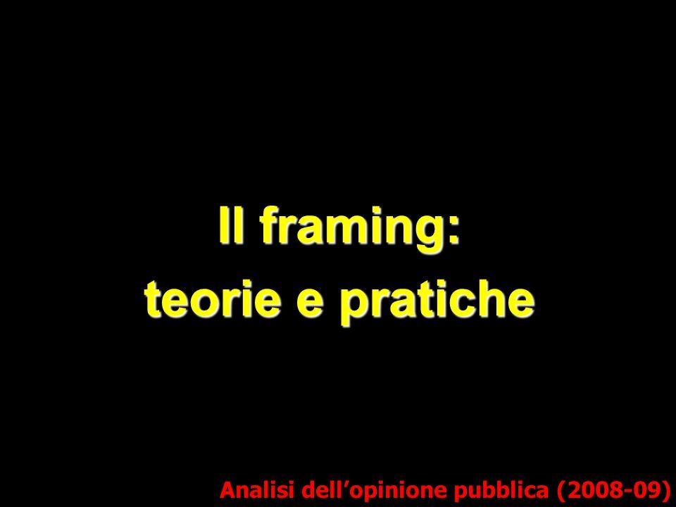 Il framing: teorie e pratiche