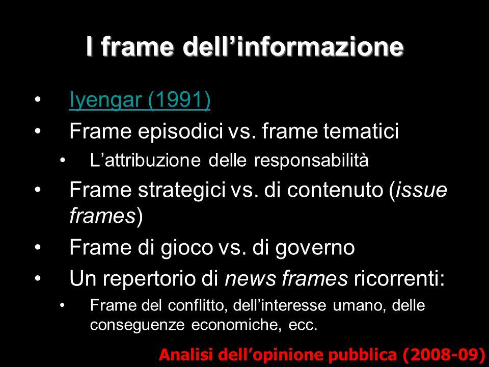 I frame dell'informazione