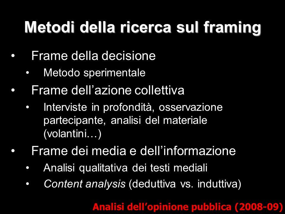 Metodi della ricerca sul framing