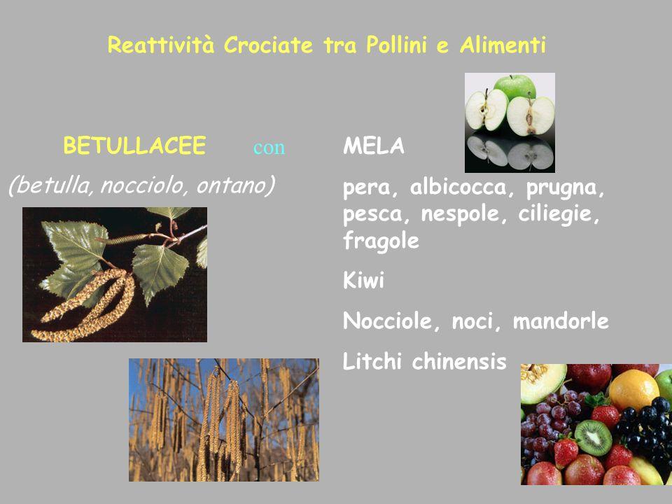 Reattività Crociate tra Pollini e Alimenti