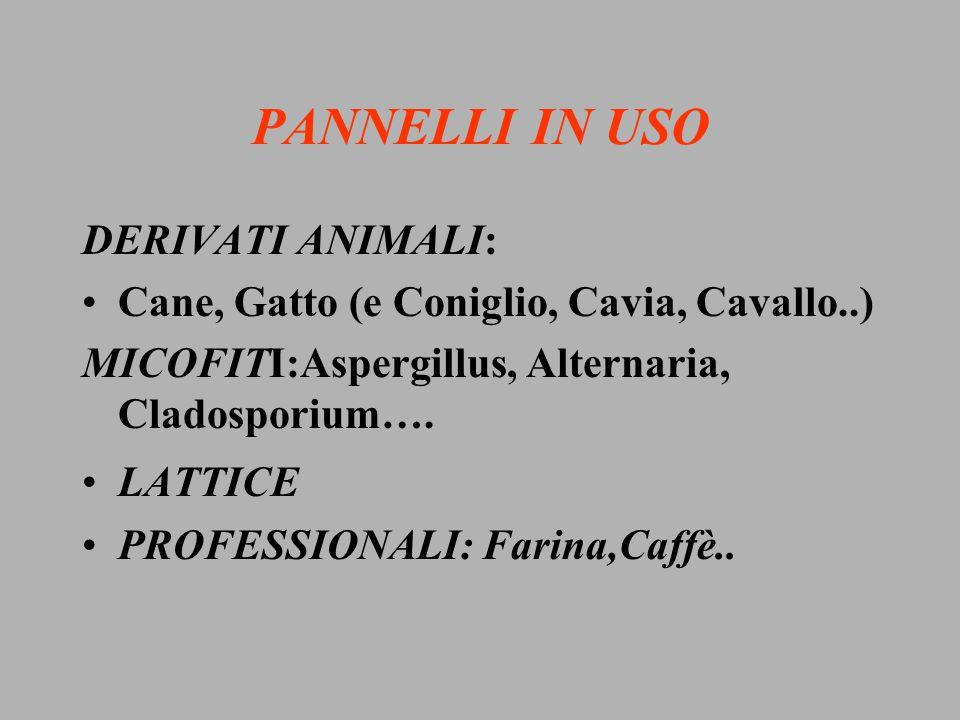 PANNELLI IN USO DERIVATI ANIMALI: