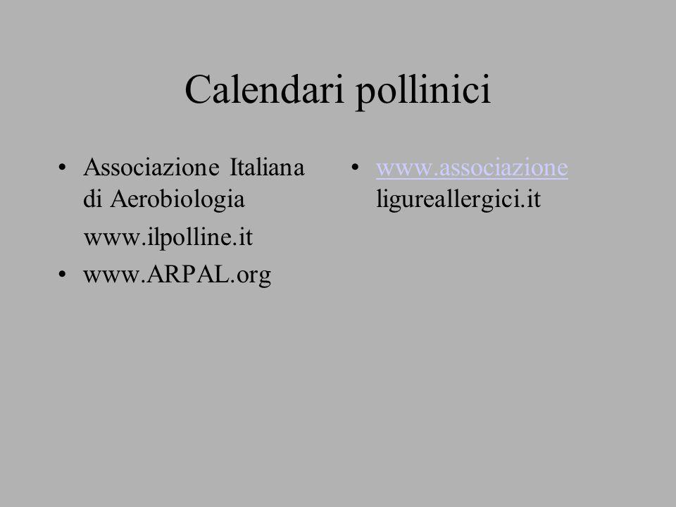 Calendari pollinici Associazione Italiana di Aerobiologia