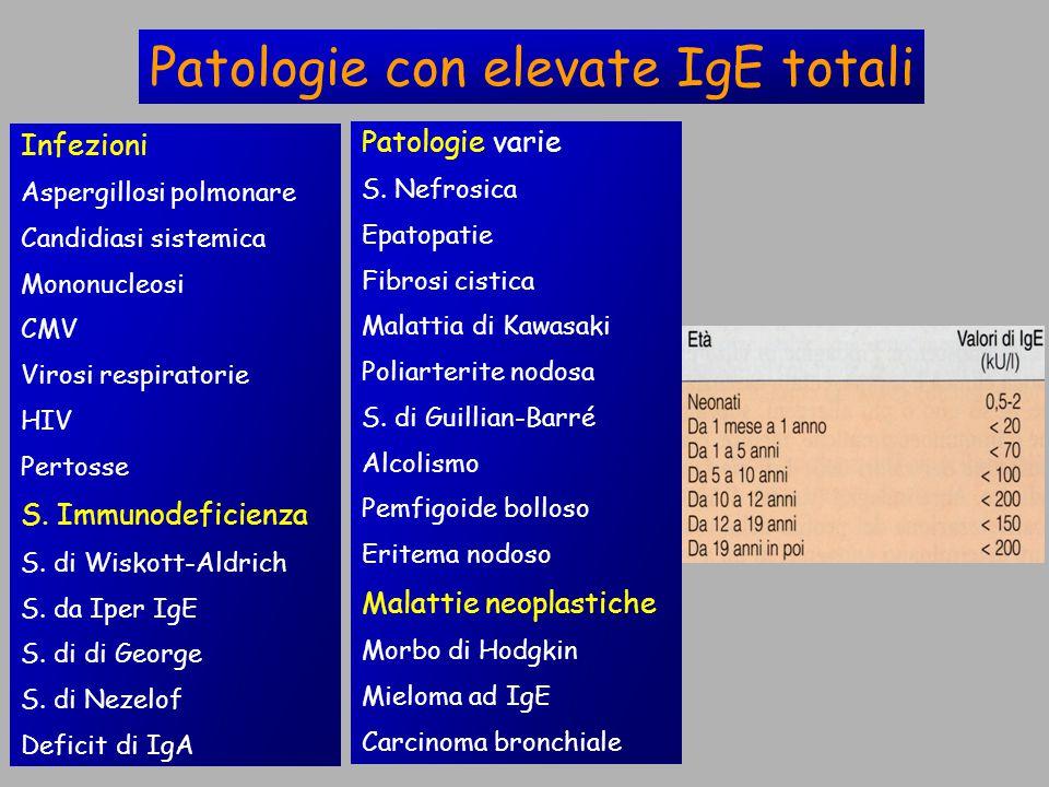 Patologie con elevate IgE totali