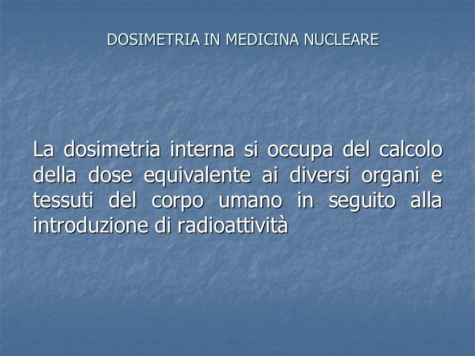 DOSIMETRIA IN MEDICINA NUCLEARE