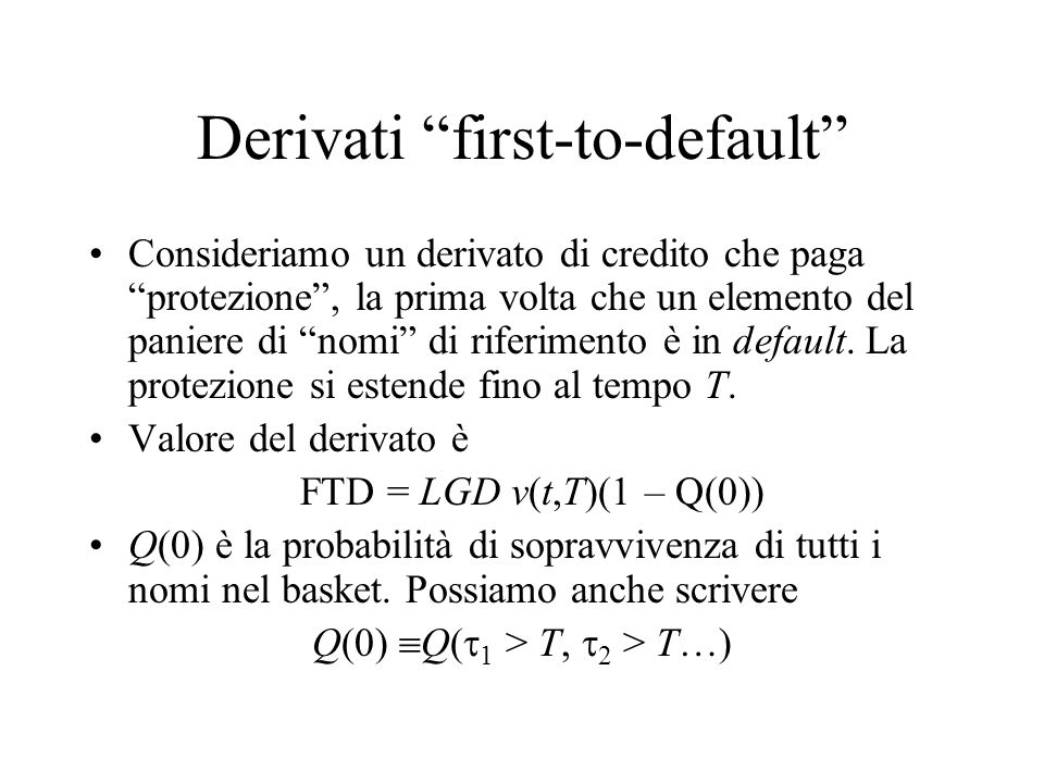 Derivati first-to-default