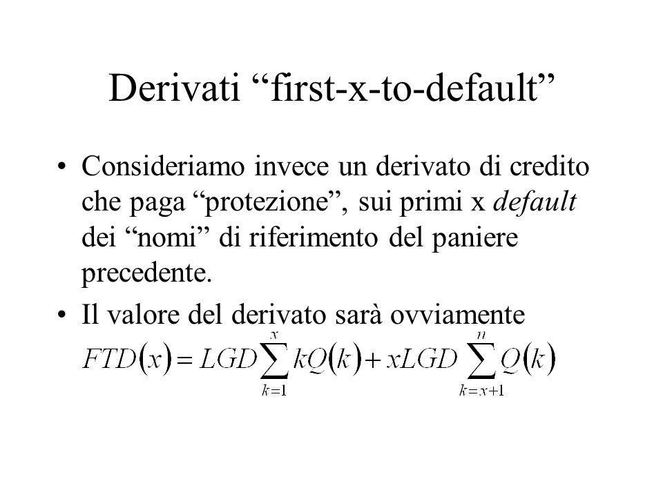Derivati first-x-to-default