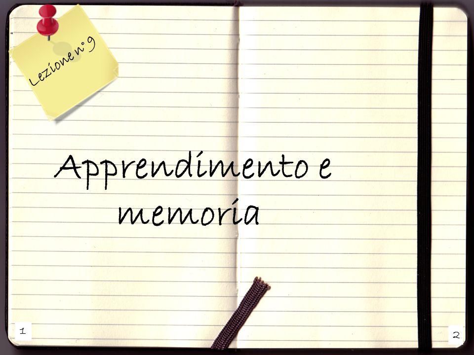 Apprendimento e memoria