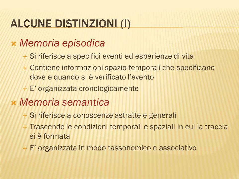 ALCUNE DISTINZIONI (I)