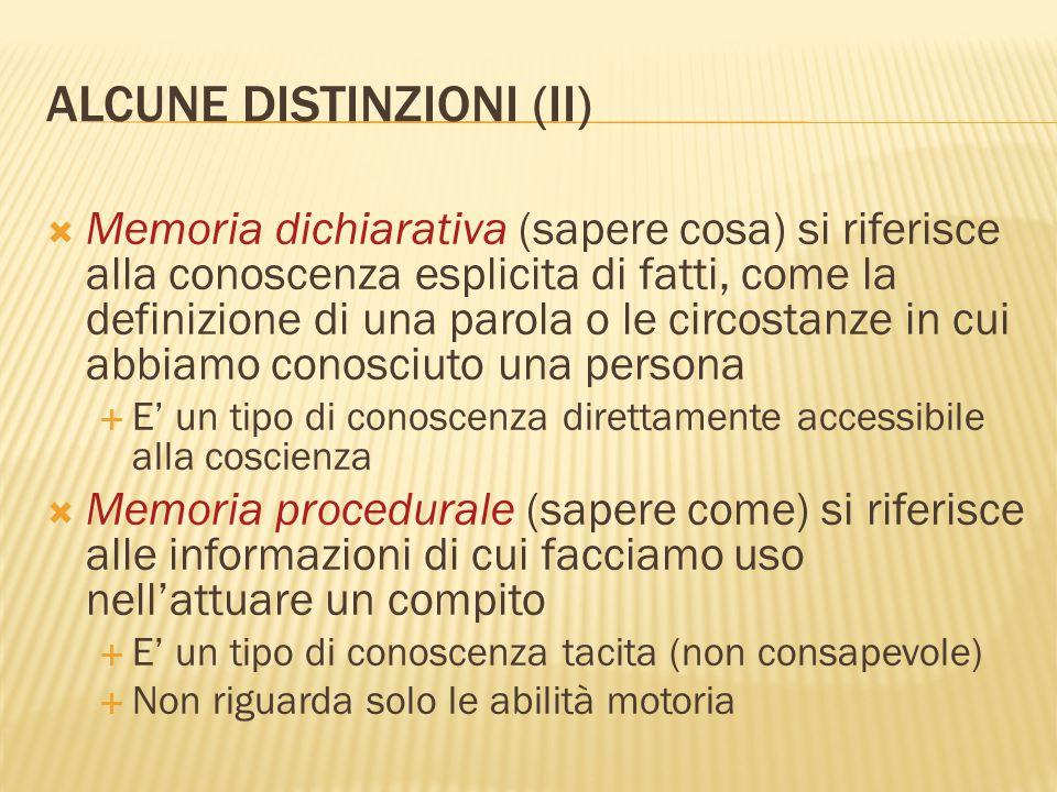 ALCUNE DISTINZIONI (II)