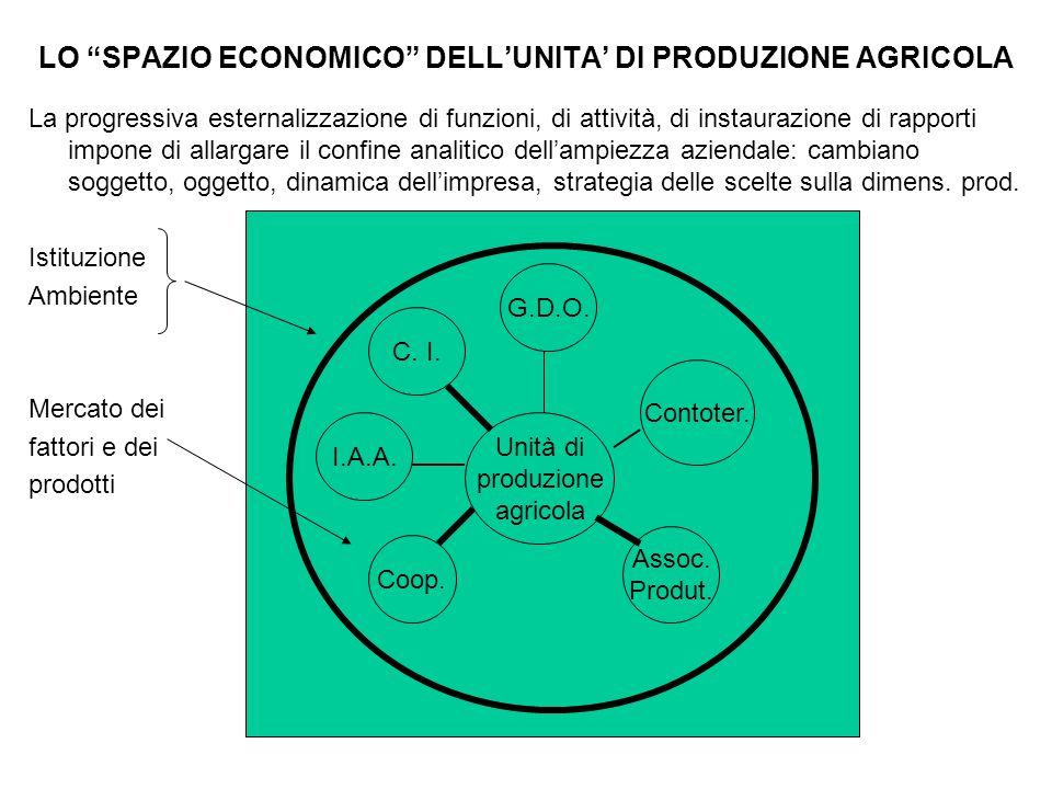 LO SPAZIO ECONOMICO DELL'UNITA' DI PRODUZIONE AGRICOLA
