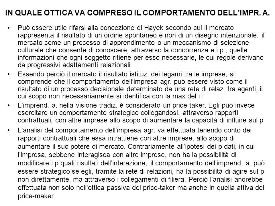 IN QUALE OTTICA VA COMPRESO IL COMPORTAMENTO DELL'IMPR. A.