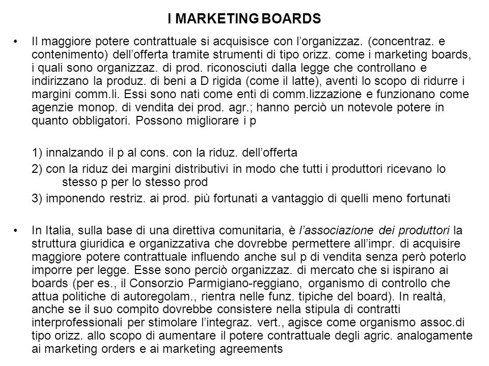I MARKETING BOARDS