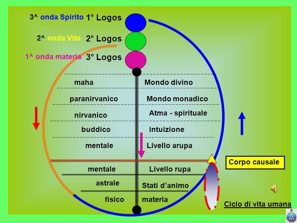 1° Logos 2° Logos 3° Logos 3^ onda Spirito 2^ onda Vita