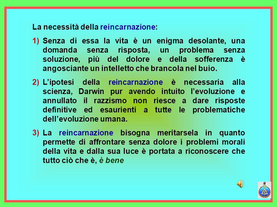 La necessità della reincarnazione:
