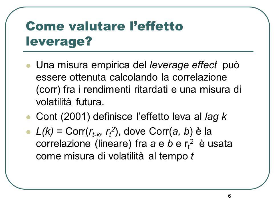 Come valutare l'effetto leverage