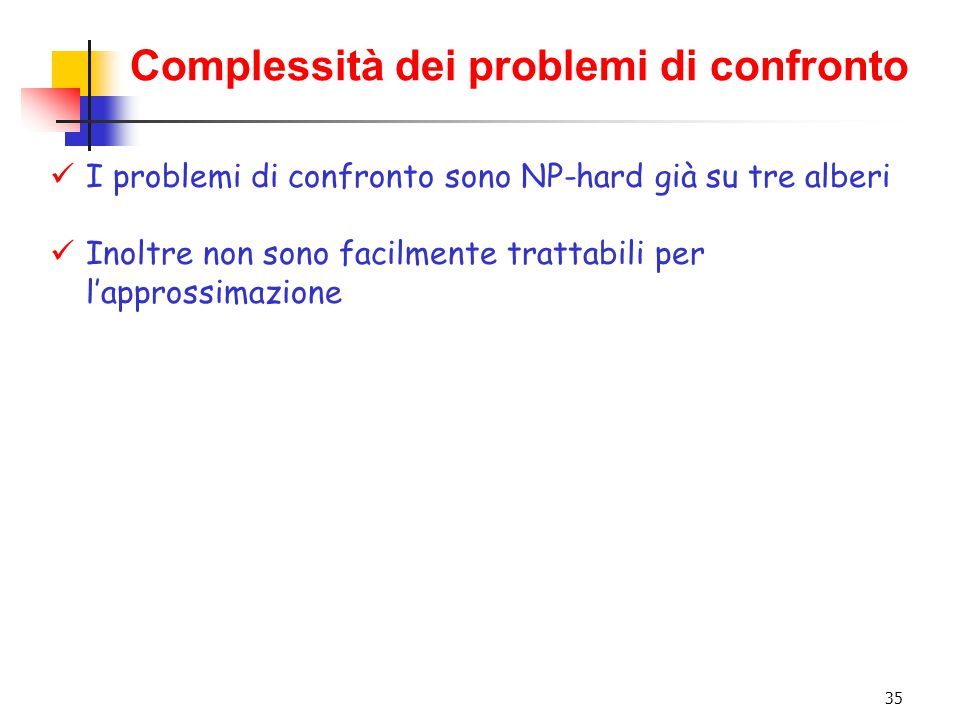 Complessità dei problemi di confronto
