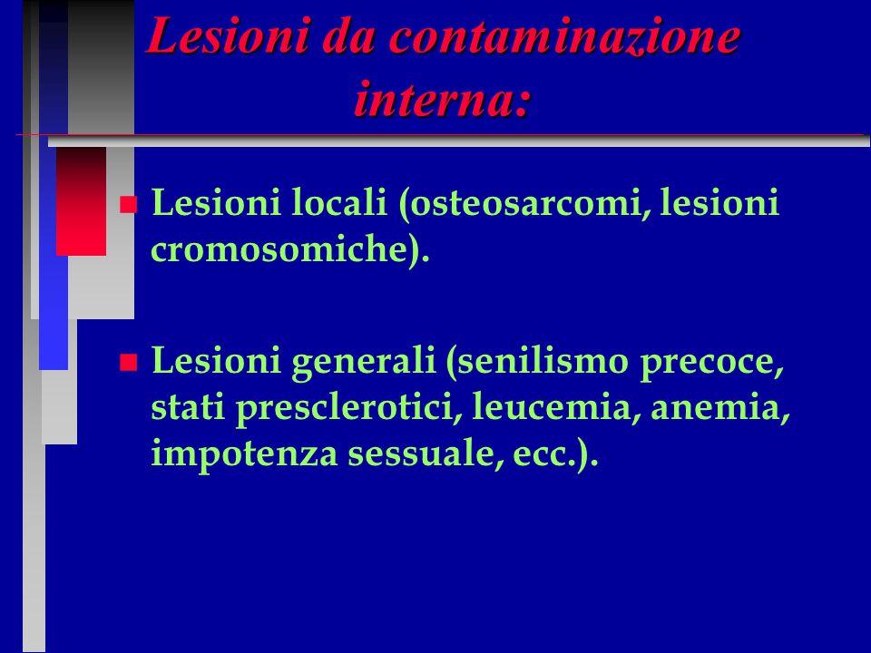 Lesioni da contaminazione interna: