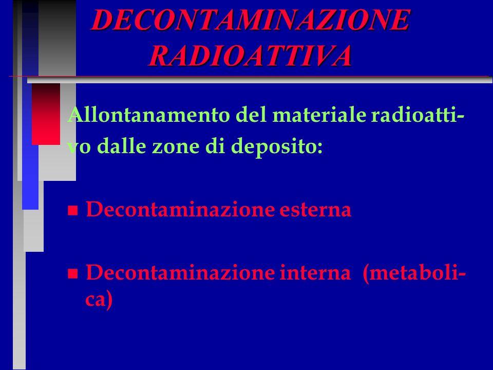 DECONTAMINAZIONE RADIOATTIVA