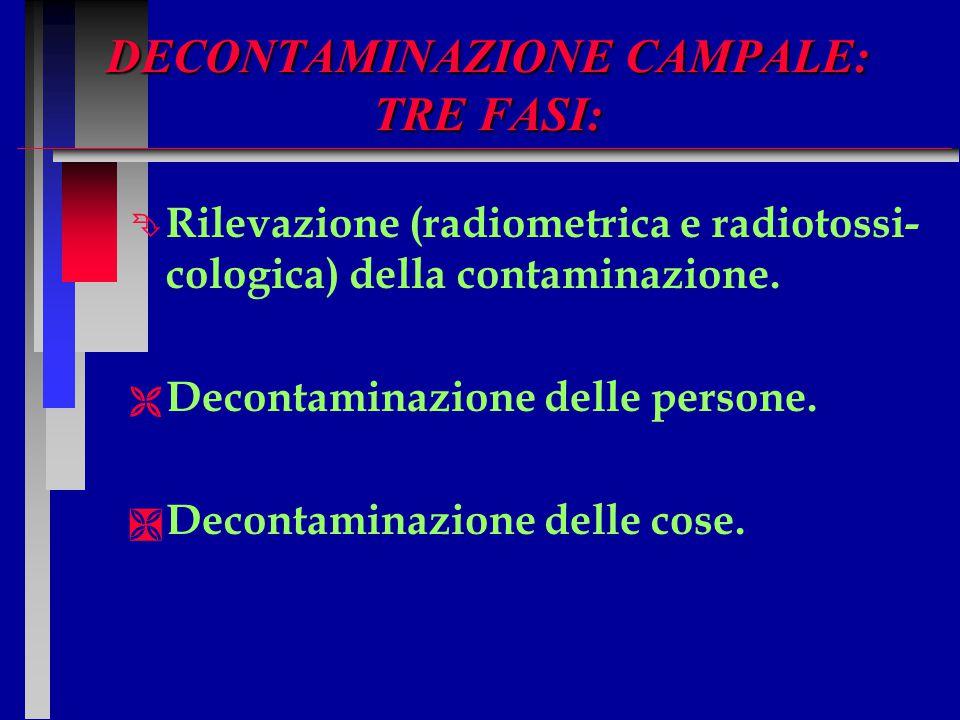 DECONTAMINAZIONE CAMPALE: TRE FASI: