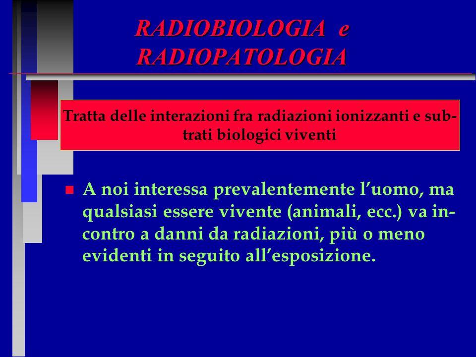 RADIOBIOLOGIA e RADIOPATOLOGIA