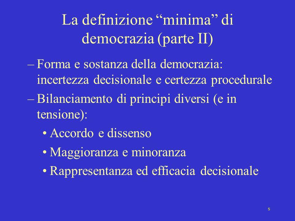 La definizione minima di democrazia (parte II)