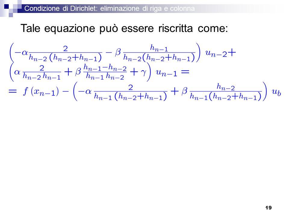Tale equazione può essere riscritta come: