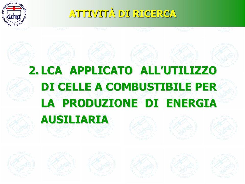 ATTIVITÀ DI RICERCA LCA APPLICATO ALL'UTILIZZO DI CELLE A COMBUSTIBILE PER LA PRODUZIONE DI ENERGIA AUSILIARIA.