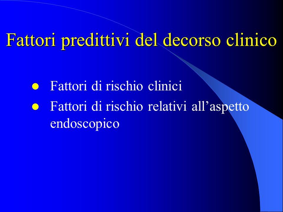 Fattori predittivi del decorso clinico
