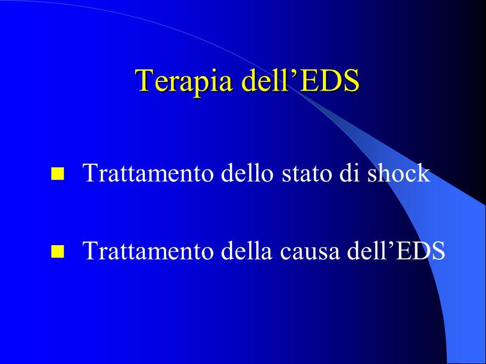 Terapia dell'EDS Trattamento dello stato di shock