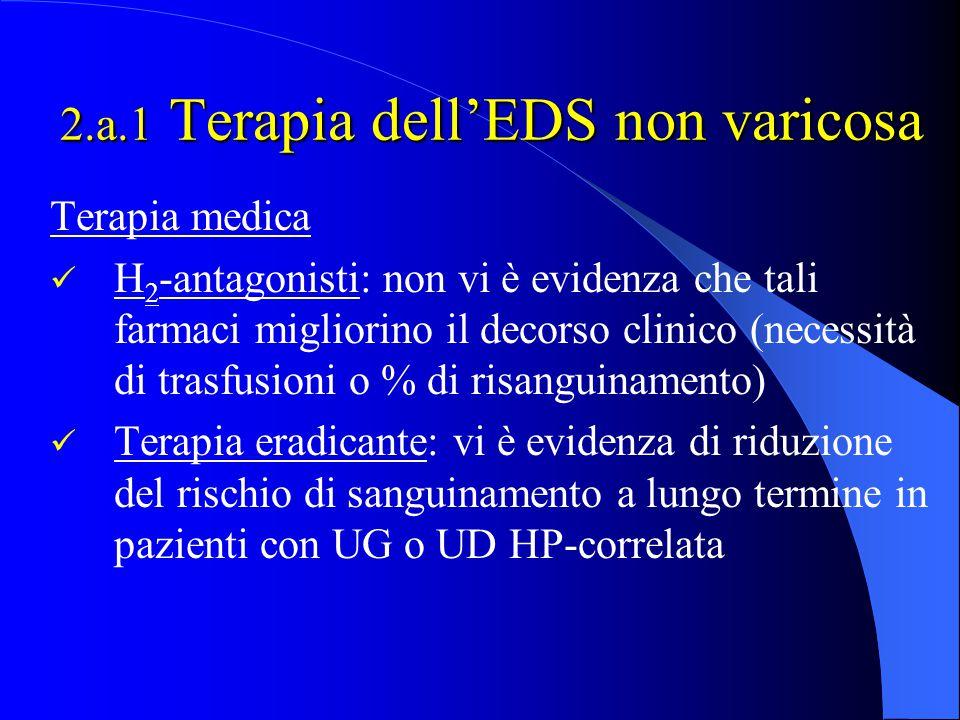 2.a.1 Terapia dell'EDS non varicosa