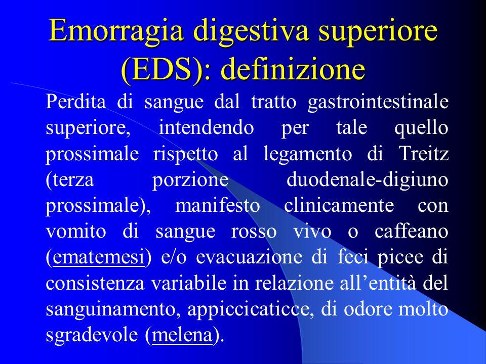 Emorragia digestiva superiore (EDS): definizione