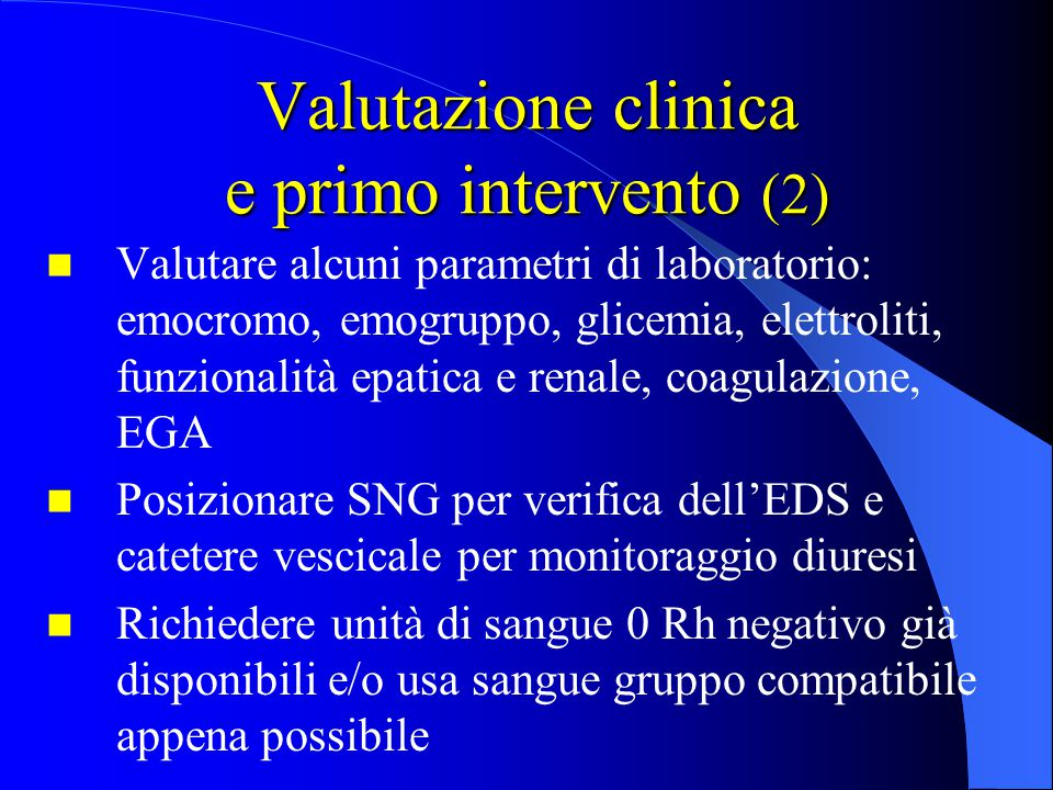 Valutazione clinica e primo intervento (2)