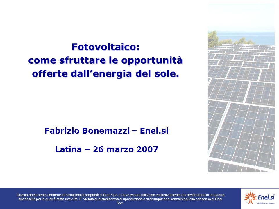 Fabrizio Bonemazzi – Enel.si Latina – 26 marzo 2007