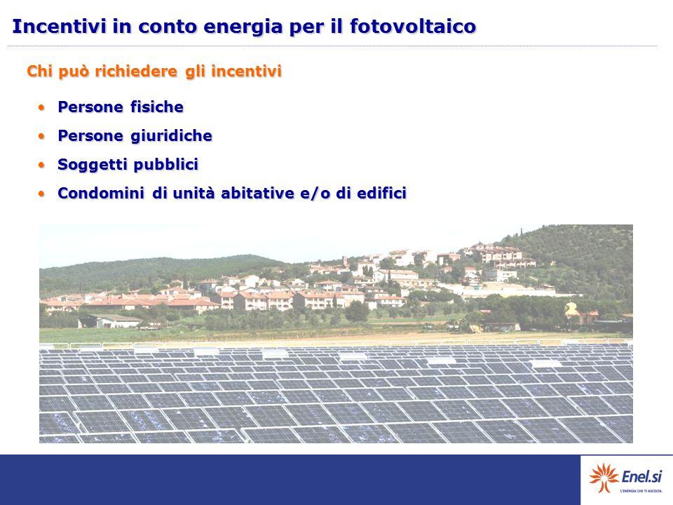 Incentivi in conto energia per il fotovoltaico
