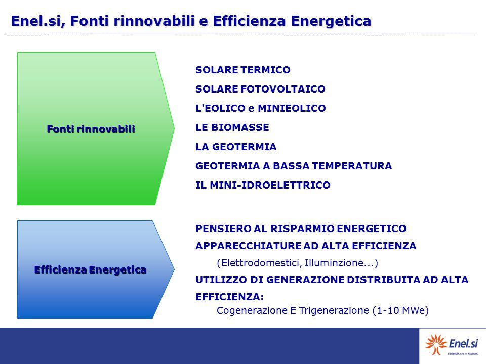 Enel.si, Fonti rinnovabili e Efficienza Energetica