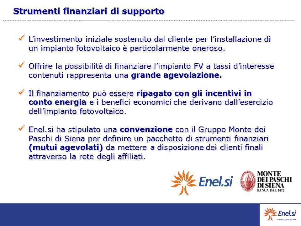 Strumenti finanziari di supporto