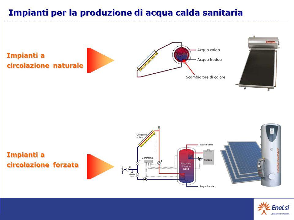 Impianti per la produzione di acqua calda sanitaria