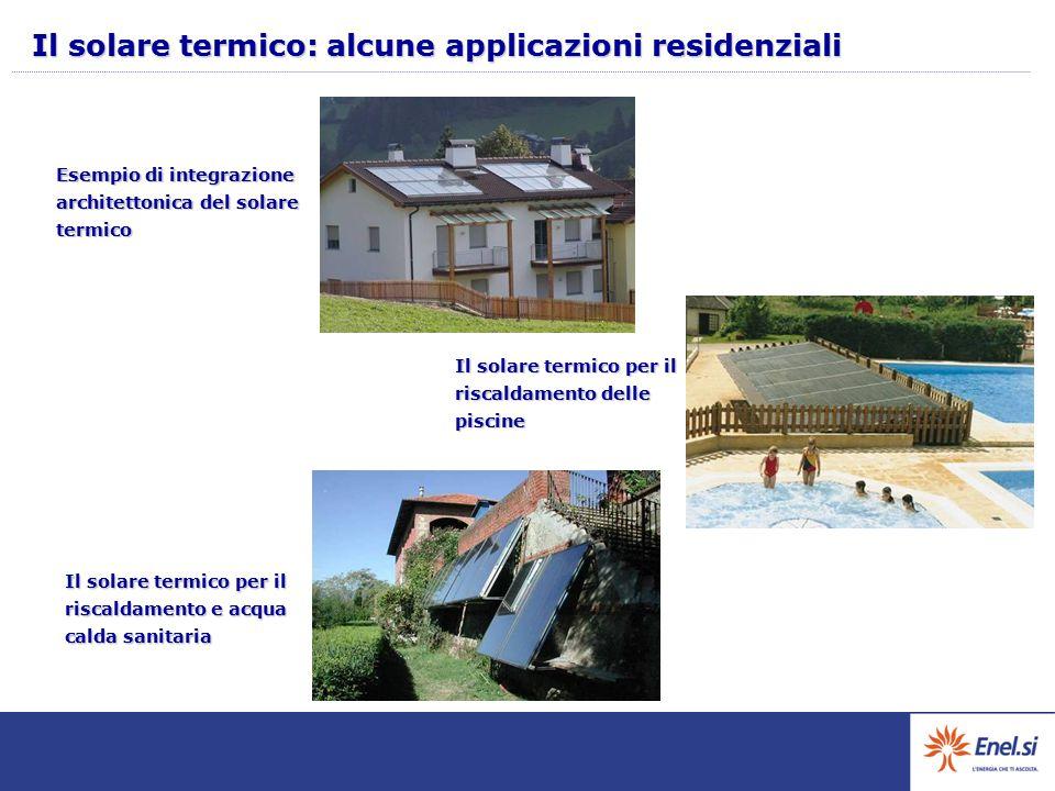 Il solare termico: alcune applicazioni residenziali