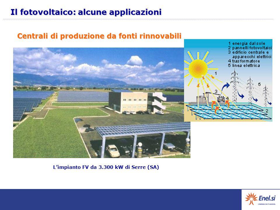 Il fotovoltaico: alcune applicazioni