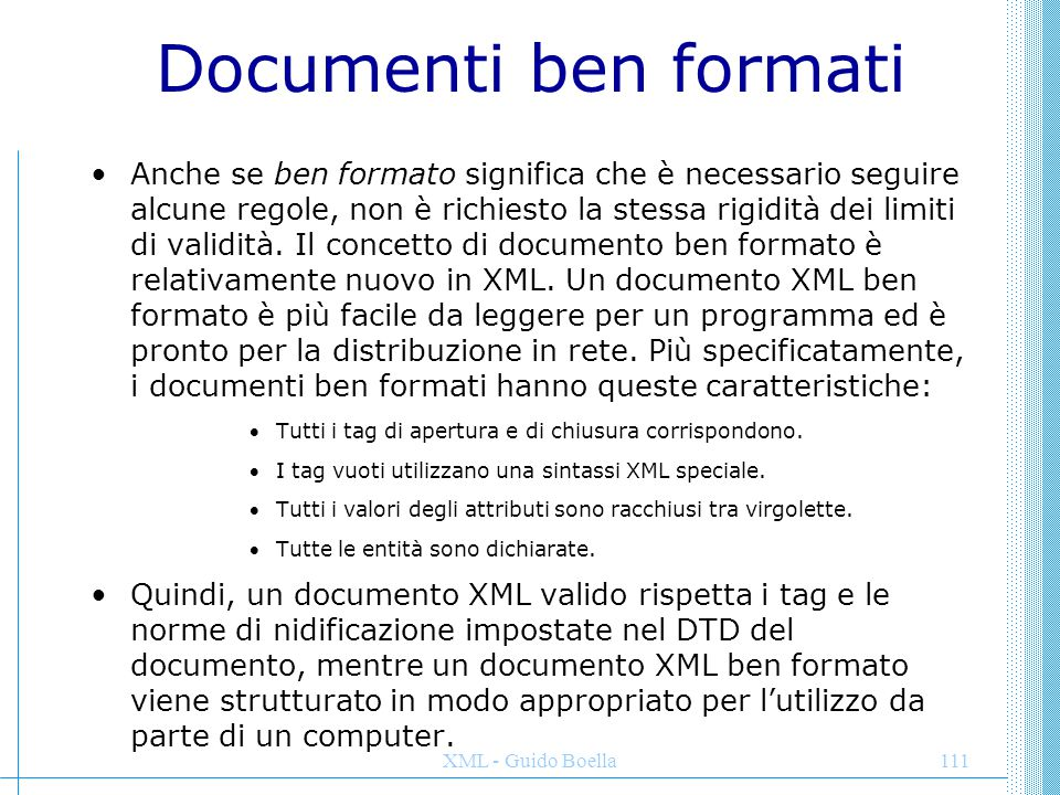 Documenti ben formati